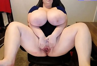 Bbw masturbating primarily webcam solo